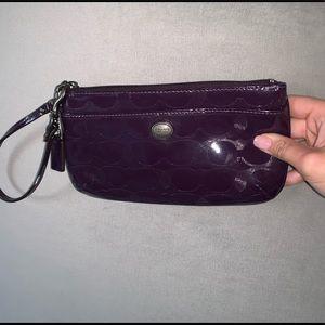 Purple coach purse- never used